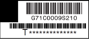 sample part number and serial number label